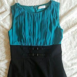 NWOT Calvin Klein Colorblock Midi Dress